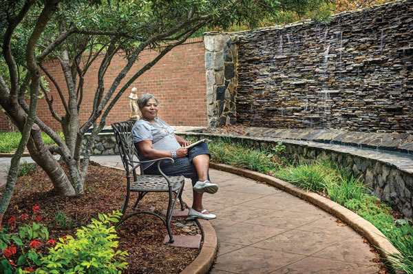 Photo of Patient Relaxing in Garden
